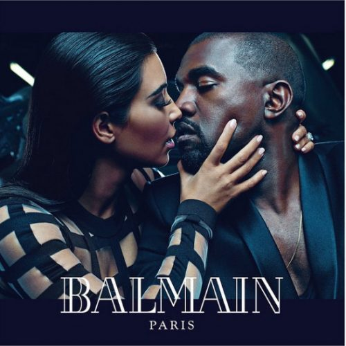 "Photos: Kim Kardashian And Kanye West Pose For Balmain's ""Ar"