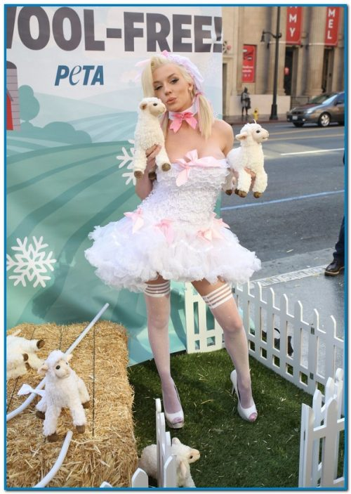 Courtney Stodden Saves The Sheep With PETA – Photos