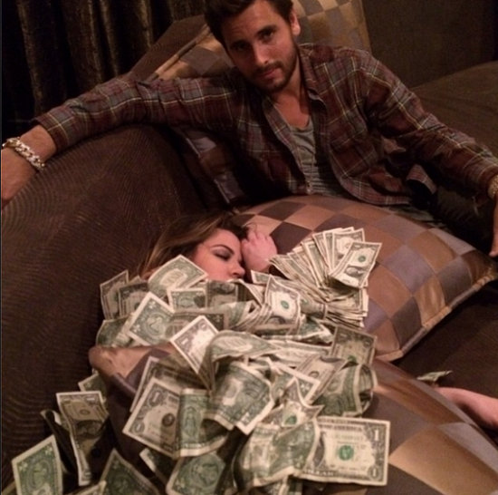 Scott Disick Piles Money On Khloe
