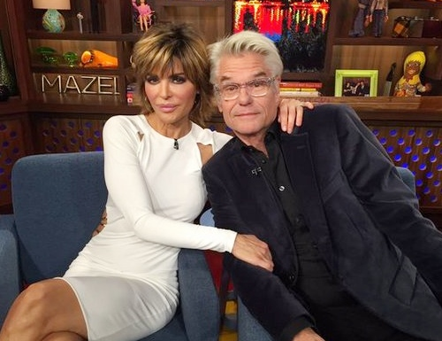 Lisa Rinna and Harry Hamlin on WWHL