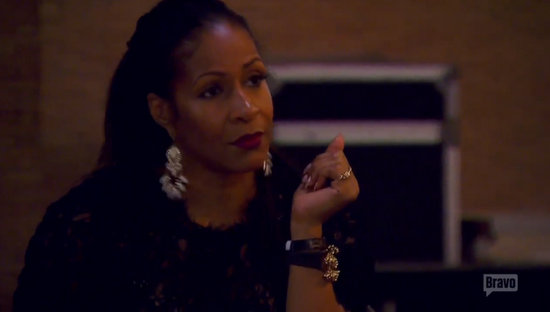 Sheree Whitfield tells Kim about rumors