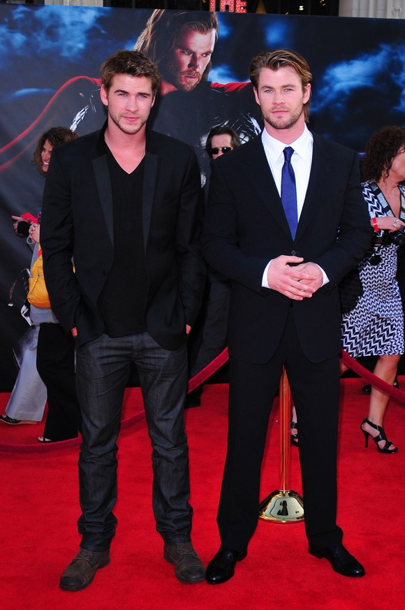 Liam Hemsworth and Chris Hemsworth Los Angeles Premiere of