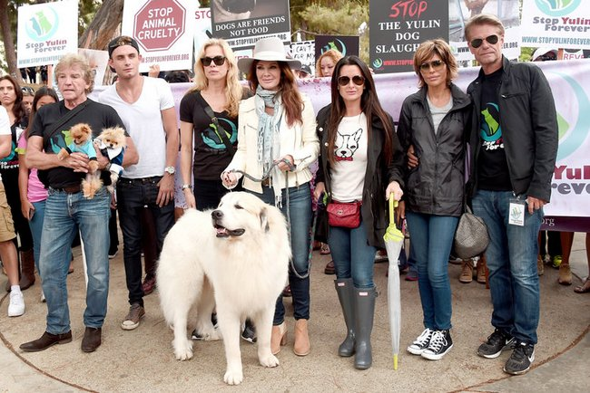 Lisa Vanderpump - Stop Yulin Forever March
