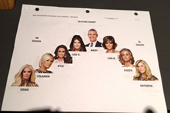 RHOBH season 6 reunion seating chart