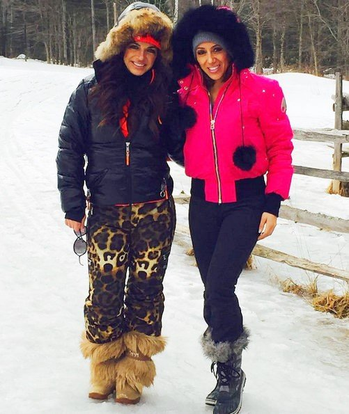 Teresa Giudice and Melissa Gorga in Vermont