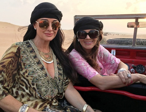 Lisa Vanderpump and Kyle Richards in Dubai