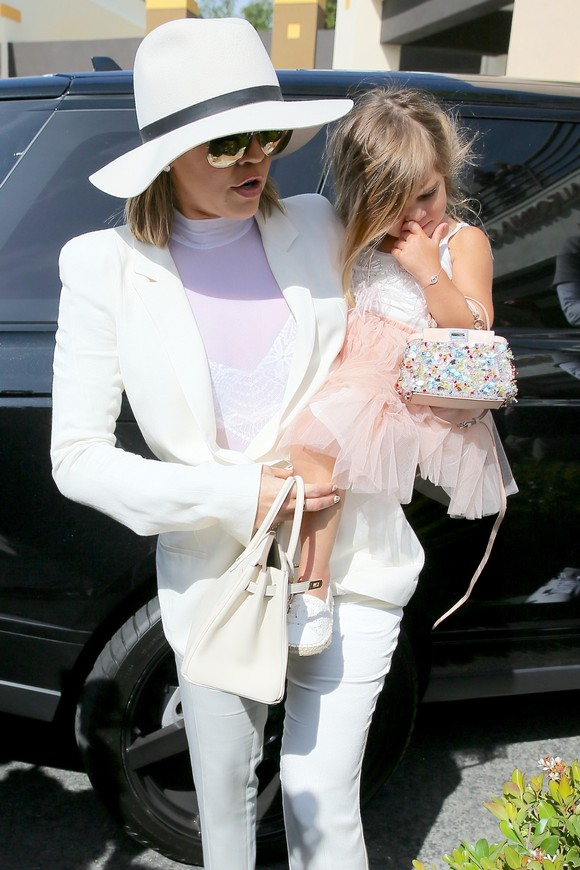 The Kardashian Family and Lamar Odom attend the Easter Sunday service at California Community Church Featuring: Khloe Kardashian, Penelope Disick Where: Los Angeles, California, United States When: 27 Mar 2016 Credit: Michael Wright/WENN.com