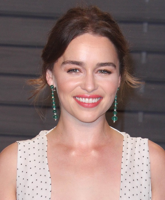 Vanity Fair Oscar Party at Wallis Annenberg Center for Performing Arts - Arrivals Featuring: Emilia Clarke Where: Los Angeles, California, United States When: 28 Feb 2016 Credit: Adriana M. Barraza/WENN.com