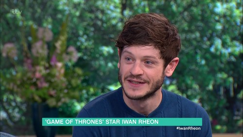 Iwan Rheon promoting 'Game of Thrones', in which Rheon plays Ramsay Bolton, on 'This Morning'. Broadcast on ITV1 HD. Featuring: Iwan Rheon Where: United Kingdom When: 26 May 2016 Credit: Supplied by WENN **WENN does not claim any ownership including but not limited to Copyright, License in attached material. Fees charged by WENN are for WENN's services only, do not, nor are they intended to, convey to the user any ownership of Copyright, License in material. By publishing this material you expressly agree to indemnify, to hold WENN, its directors, shareholders, employees harmless from any loss, claims, damages, demands, expenses (including legal fees), any causes of action, allegation against WENN arising out of, connected in any way with publication of the material.**