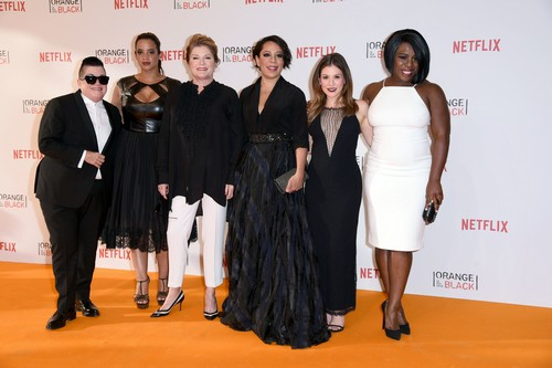 European premiere of the fourth season of Netflix series 'Orange is the New Black' at Kino in der Kulturbrauerei movie theater Featuring: Lea DeLaria, Dascha Polanco, Kate Mulgrew, Selenis Leyva, Yael Stone, Uzo Aduba Where: Berlin, Germany When: 07 Jun 2016 Credit: WENN.com