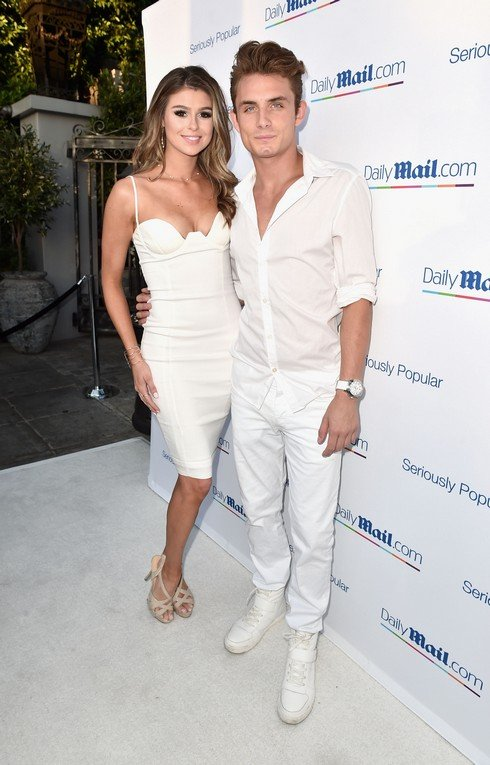 LOS ANGELES, CA - JULY 27: Raquel Leviss (L) and DJ James Kennedy attend the Daily Mail Summer White Party with Lisa Vanderpump at Pump on July 27, 2016 in Los Angeles, California. (Photo by Alberto E. Rodriguez/Getty Images for DailyMail.com)