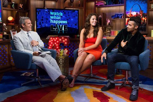 WATCH WHAT HAPPENS LIVE -- Episode 13128 -- Pictured: (l-r) Andy Cohen, Ashley Graham, Joe Jonas -- (Photo by: Charles Sykes/Bravo)