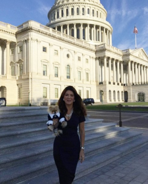 Lisa Vanderpump at Capitol Hill