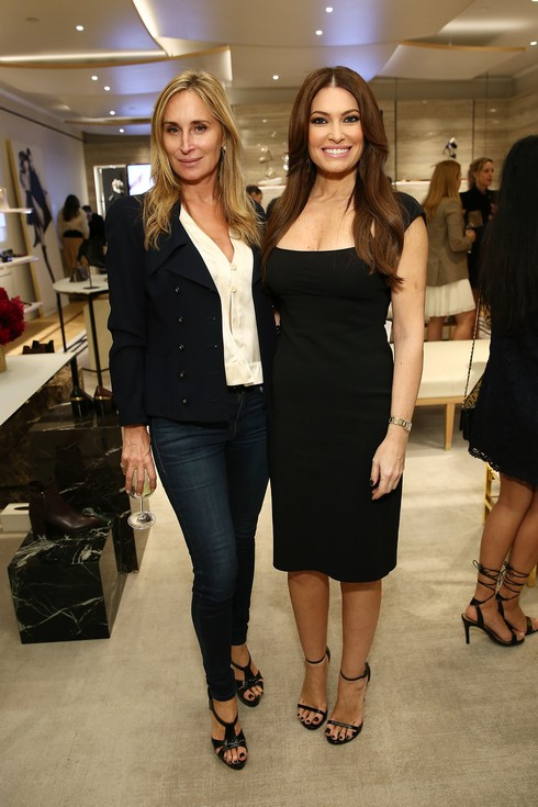 NEW YORK, NY - OCTOBER 20: Sonja Morgan (L) and Kimberly Guilfoyle attend Stuart Weitzman And Quest Invite You To Celebrate The New Look At The Exclusive Re-opening Of The Madison Avenue Flagship Store on October 20, 2016 in New York City. (Photo by Monica Schipper/Getty Images for Stuart Weitzman)