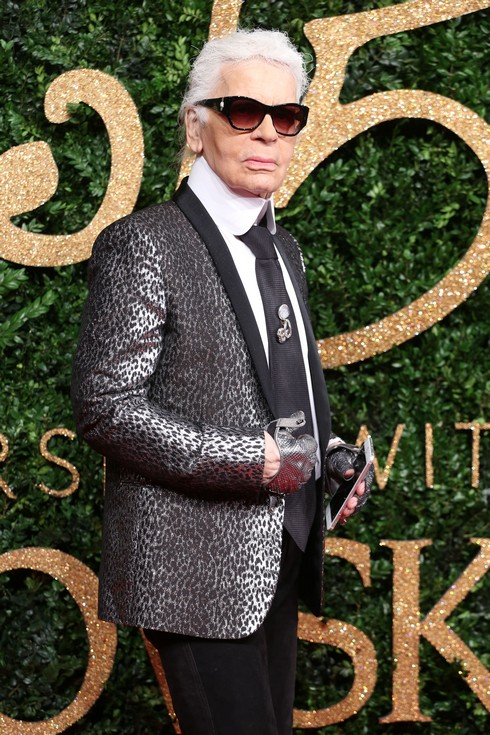 The British Fashion Awards 2015 - Arrivals Featuring: Karl Lagerfeld Where: London, United Kingdom When: 23 Nov 2015 Credit: Lia Toby/WENN.com