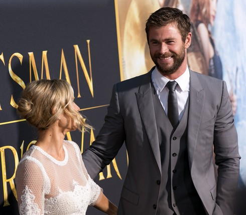 Celebrities attend The Huntsman: Winter's War Premiere at Regency Village Theater in Westwood. Featuring: Elsa Pataky, Chris Hemsworth Where: Los Angeles, California, United States When: 12 Apr 2016 Credit: Brian To/WENN.com