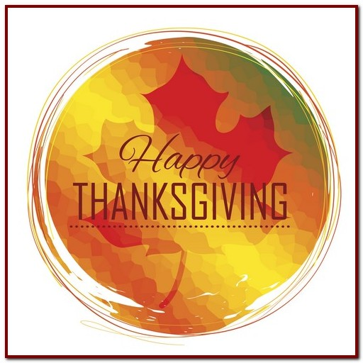 illustration of Happy Thanksgiving celebration background with maple leaf