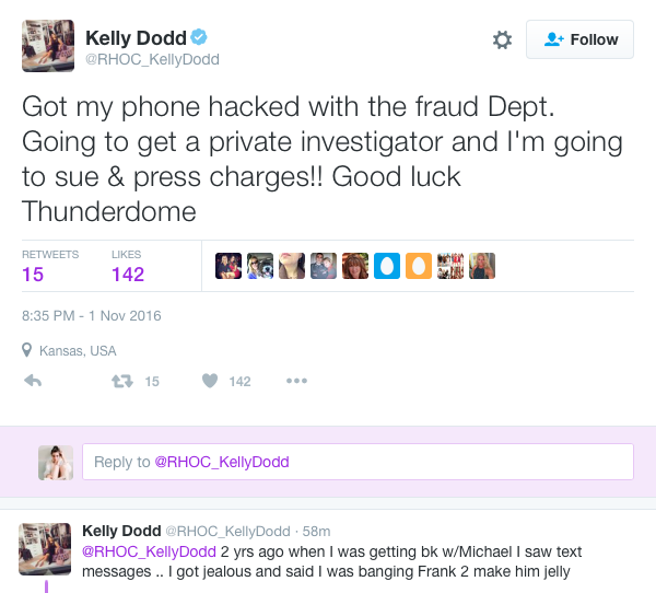 Kelly Dodd responds to WWHL drama