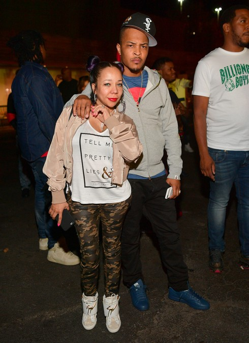 T.I. and Tameka 'Tiny' Harris attend Dim Mak 20th Anniversary at Gold Room on April 23, 2016 in Atlanta, Georgia.
