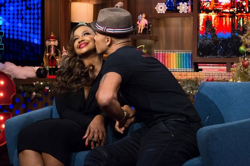 WATCH WHAT HAPPENS LIVE -- Episode 13202 -- Pictured: (l-r) Phaedra Parks, Shemar Moore -- (Photo by: Charles Sykes/Bravo)