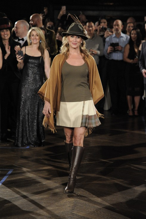 NEW YORK, NY - JANUARY 27: Sonja Morgan walks the runway during Dressed To Kilt Ball & Fashion Show presented by Usquaebach Scotch Whisky, The High Line Hotel & SugarBearHair at The High Line Hotel on January 27, 2017 in New York City. (Photo by Matthew Eisman/Getty Images for Dressed To Kilt)