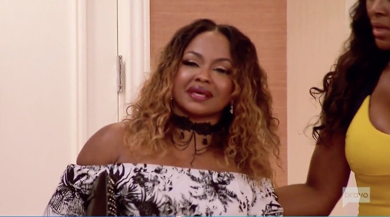 Phaedra's reaction to the divorce party