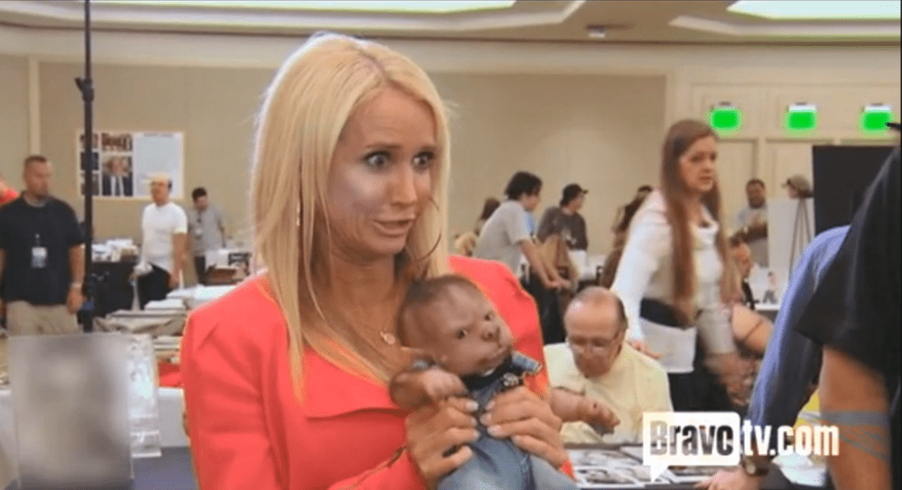 Kim Richards with Werepuppy