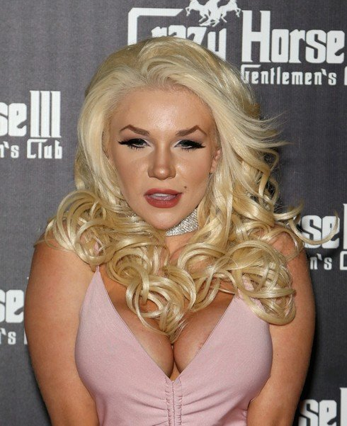 LAS VEGAS, NV - APRIL 29: Television personality Courtney Stodden arrives at a celebration of her official divorce from actor Doug Hutchison at the Crazy Horse III Gentlemen's Club on April 29, 2017 in Las Vegas, Nevada. (Photo by Gabe Ginsberg/Getty Images)