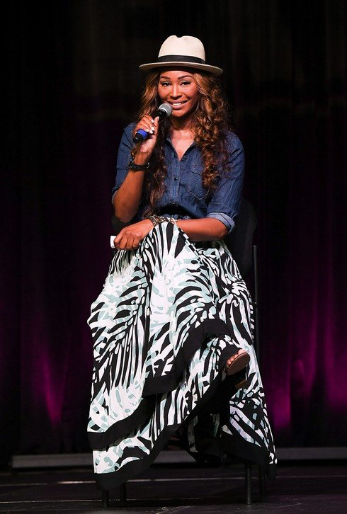 ATLANTA, GA - JUNE 04: Television personality Cynthia Bailey speaks onstage at 2017 Atlanta Ultimate Women's Expo at Georgia World Congress Center on June 4, 2017 in Atlanta, Georgia. (Photo by Paras Griffin/Getty Images)