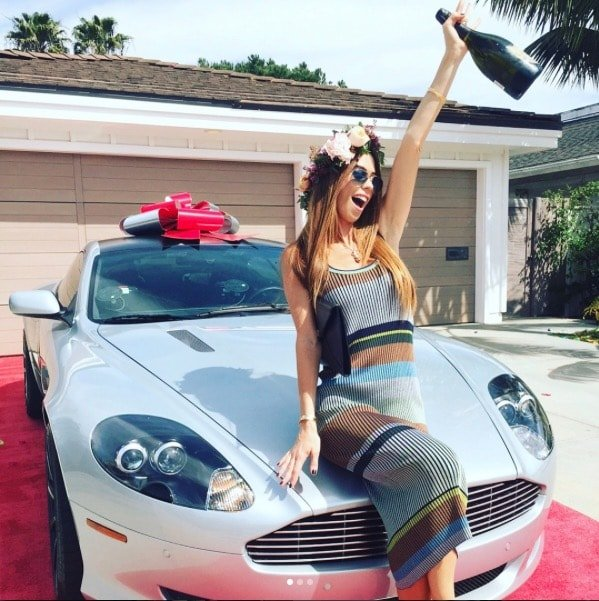 Lydia McLaughlin gets a car for her birthday