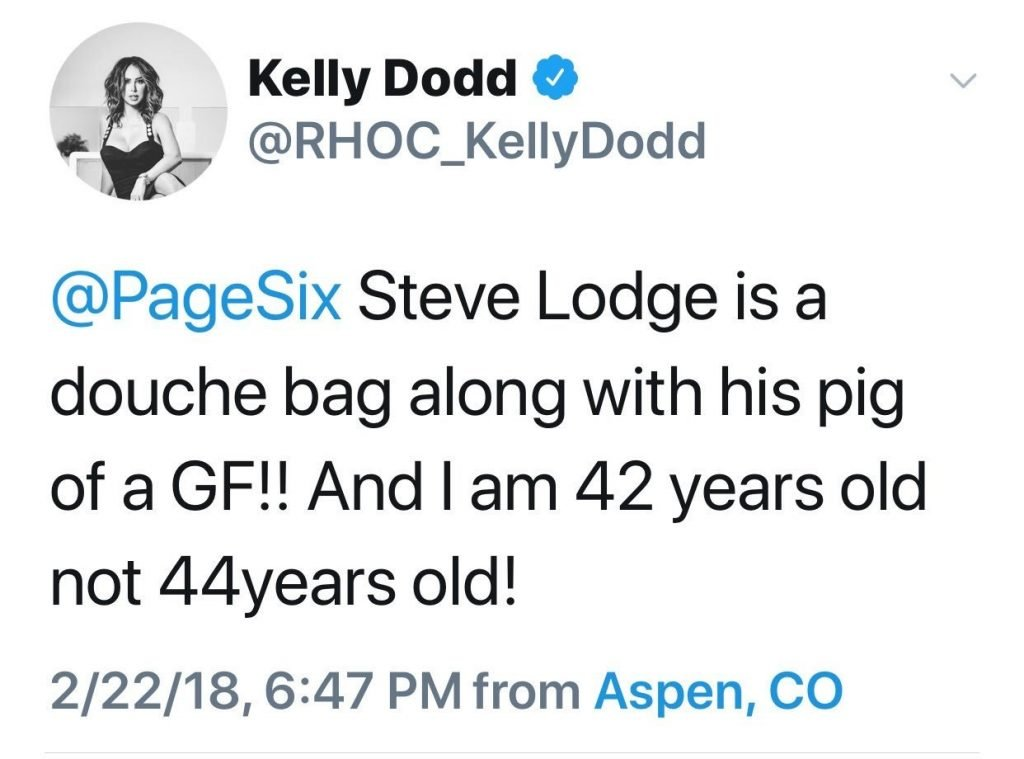 "Kelly Dodd Refers To Vicki Gunvalson As A ""Pig"" & Steve Lodge As A ""Douche Bag"""