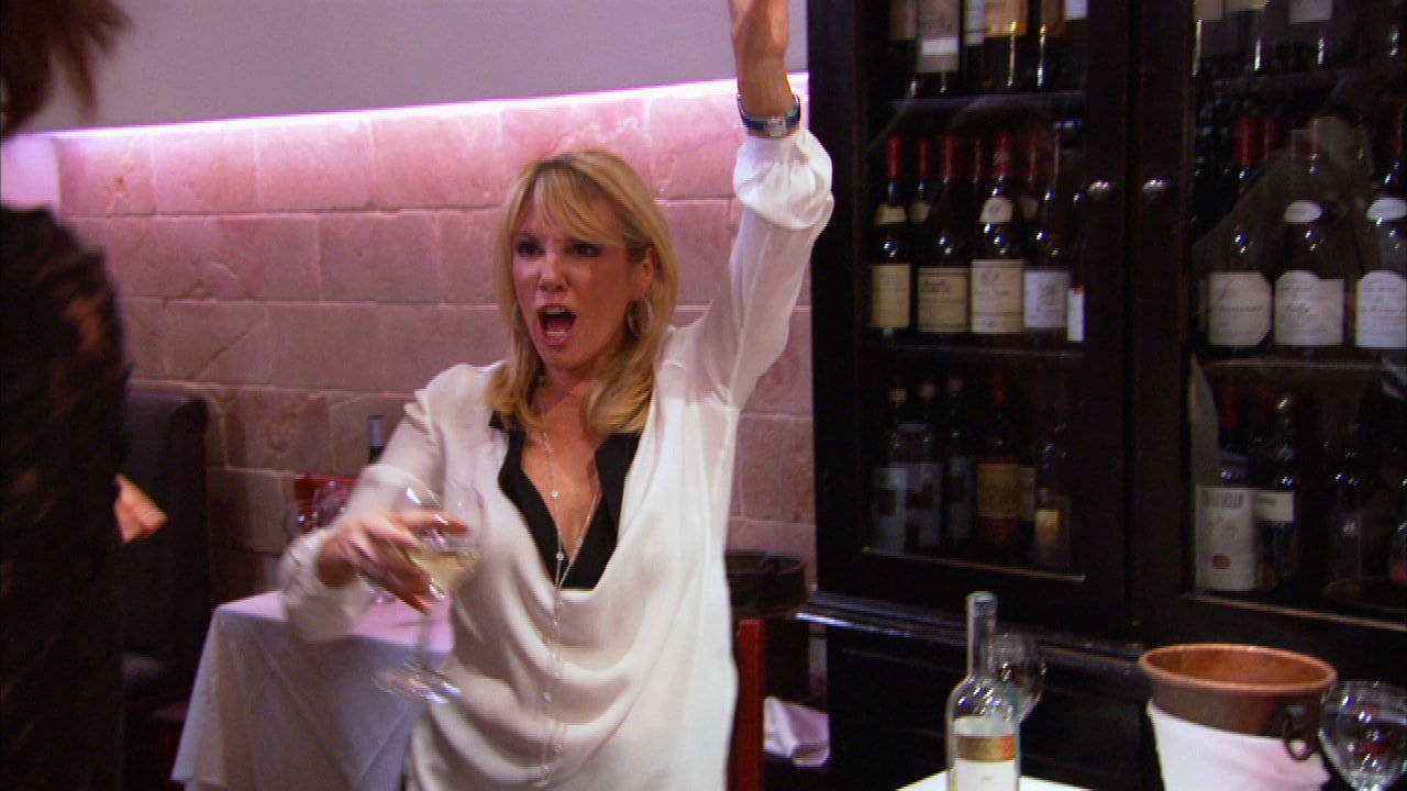 Ramona Singer with Wine