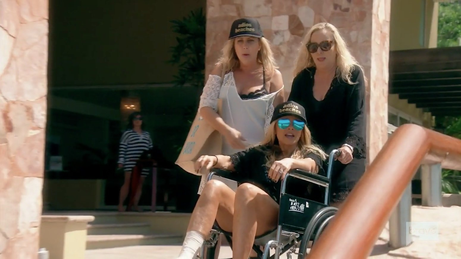 Tamra in the wheelchair