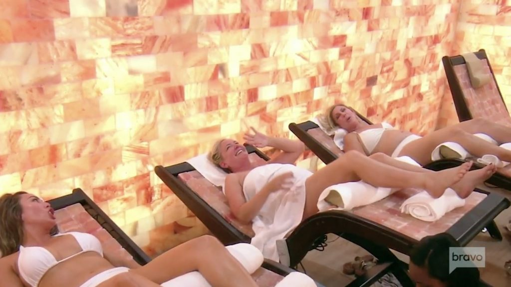 Shannon, Vicki, and Kelly at the spa