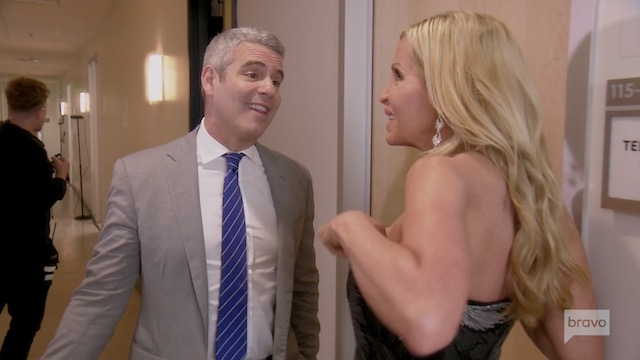 Camille Grammer & Andy Cohen