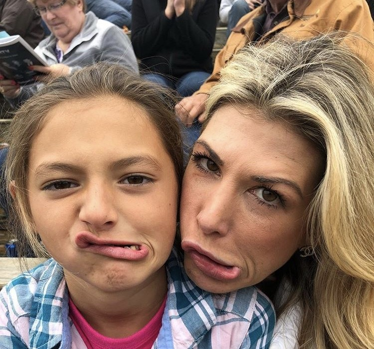 Making Silly Faces At The Rodeo