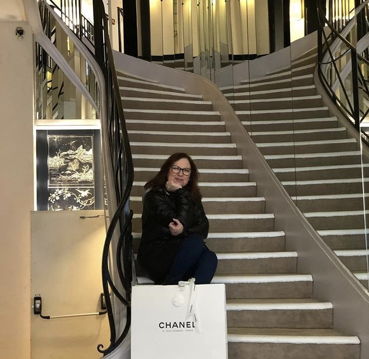 Caroline On CoCo Chanel's Staircase