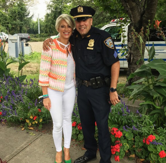 Dorinda With An NYPD Officer