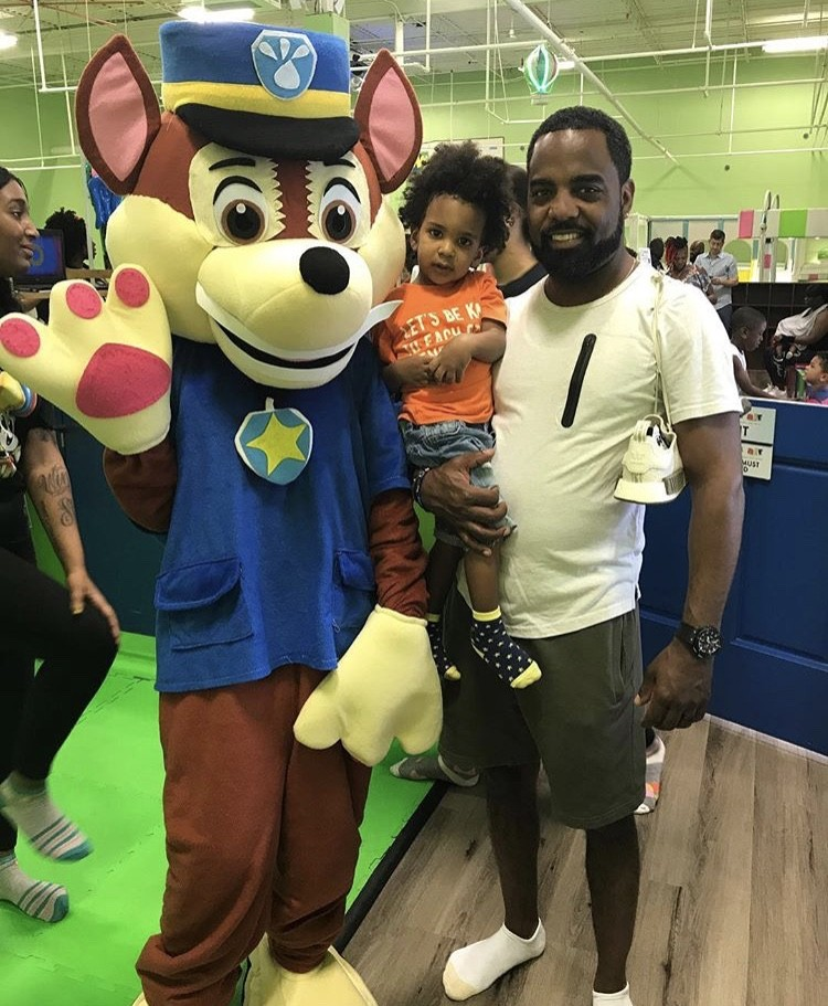 Todd Tucker With His Son Ace