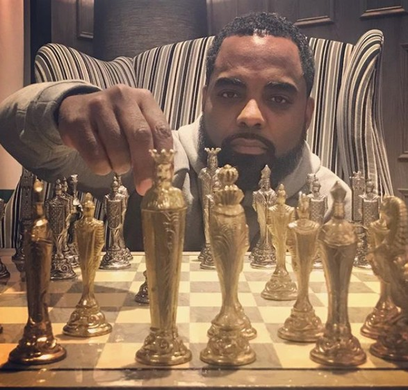 Todd Tucker Playing Chess