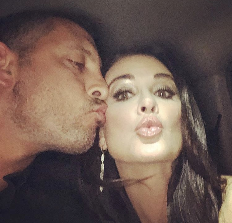 Mauricio Umansky Giving Kyle Richards A Kiss On The Cheek