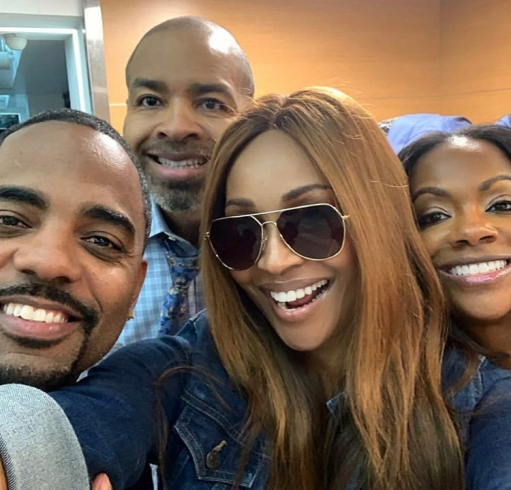 Todd Tucker, Mike Hills, Cynthia Bailey, & Kandi Burruss