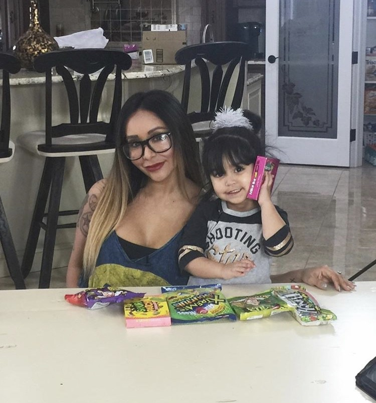 Snooki With Her Daughter