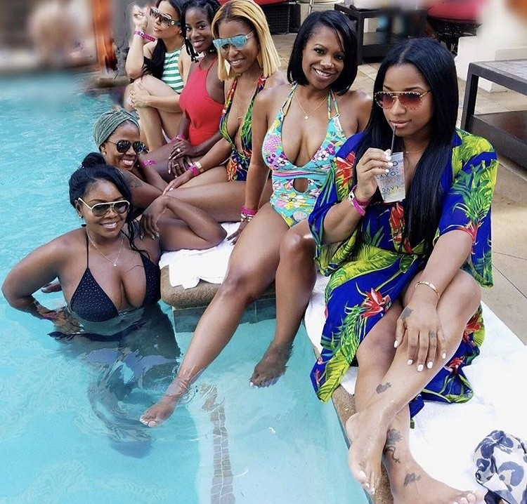 Kandi At The Pool With Her Friends