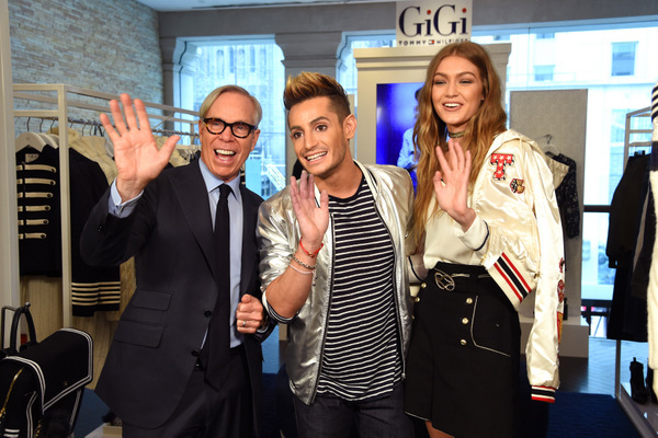 Gigi and Frankie with Tommy Hilfiger