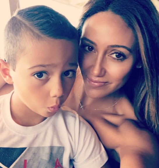 Melissa Gorga With Her Son