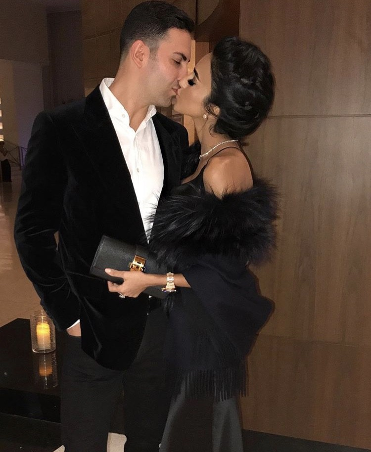 Lilly Ghalichi With Her Husband
