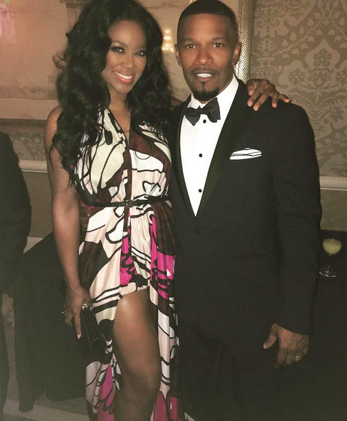 Kenya Moore and Jamie Foxx