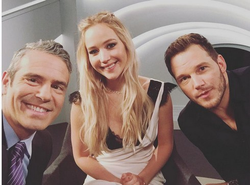 Andy Cohen, J-Law, Chris Pratt