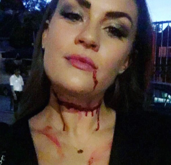 Brittany's (Fake) Bloody Selfie